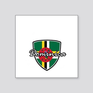 "dominica2 Square Sticker 3"" x 3"""