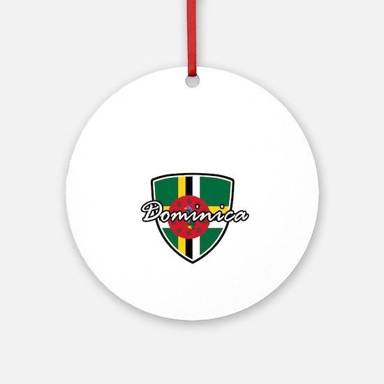 dominica2 Round Ornament