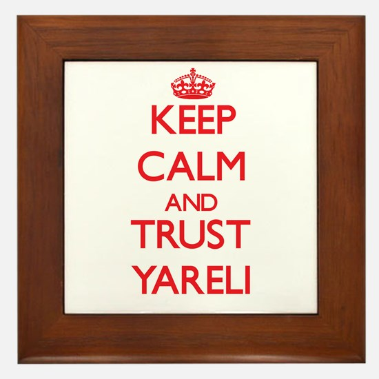 Keep Calm and TRUST Yareli Framed Tile