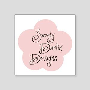 "Sweety Darlin Logo Square Sticker 3"" x 3"""