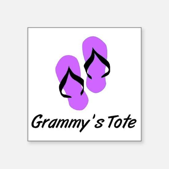 "GRAMMYS TOTE FLIPFLOP Square Sticker 3"" x 3"""