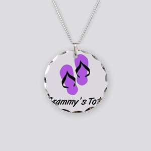 GRAMMYS TOTE FLIPFLOP Necklace Circle Charm