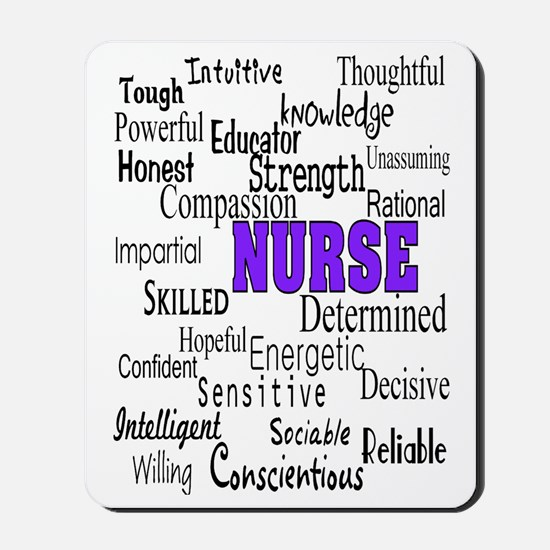 ff nurse purple Mousepad
