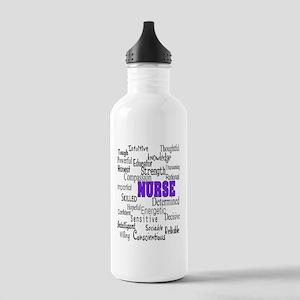 ff nurse purple Stainless Water Bottle 1.0L