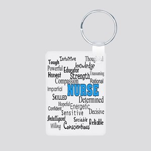 FF NURSE Blue Aluminum Photo Keychain
