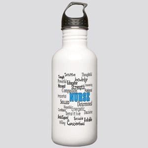 FF NURSE Blue Stainless Water Bottle 1.0L