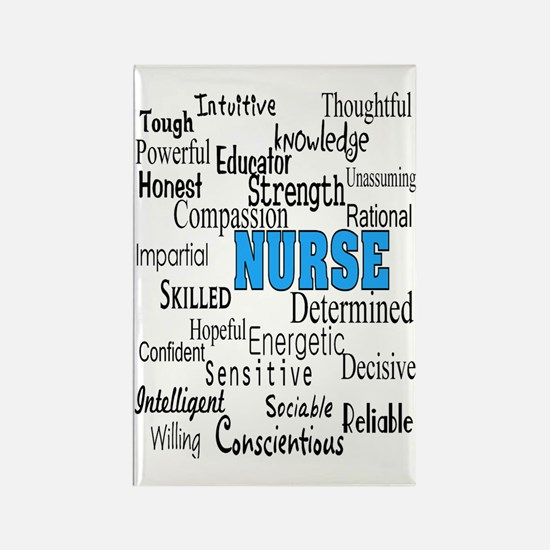 FF NURSE Blue Rectangle Magnet