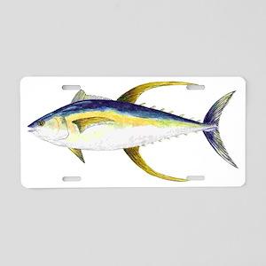 Yellowfin Tuna Aluminum License Plate