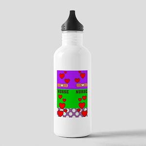 ff NURSE GREEN PURPLE Stainless Water Bottle 1.0L