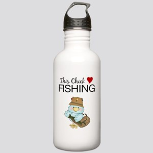THIS CHICK LOVES FISHI Stainless Water Bottle 1.0L