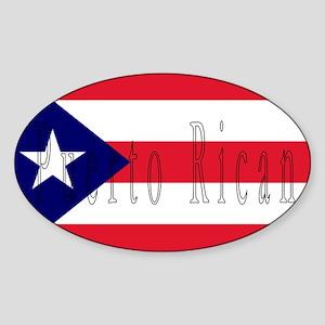Puerto Rico Oval Sticker