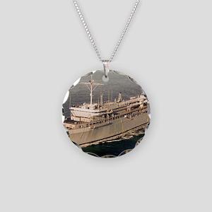 lyspear framed panel print Necklace Circle Charm