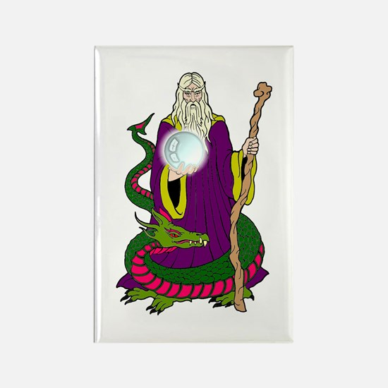 Wizard & Dragon Rectangle Magnet