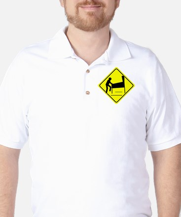 Funny - Caution Pinball Wizard Player A Golf Shirt