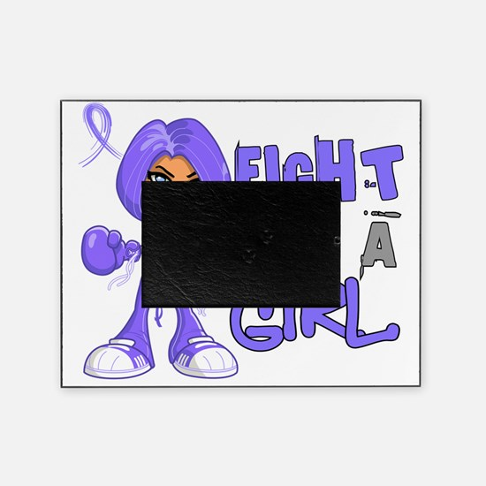 D FLAG Stomach Cancer 42.8 Picture Frame