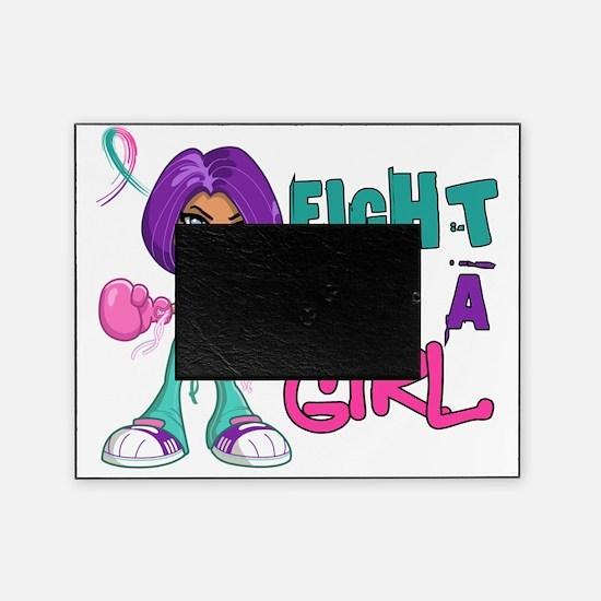 D FLAG Thyroid Cancer 42.8 Picture Frame