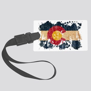 Colorado textured splatter aged  Large Luggage Tag