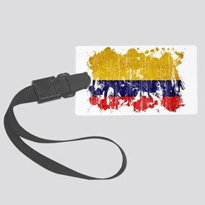 Colombia textured splatter aged  Large Luggage Tag