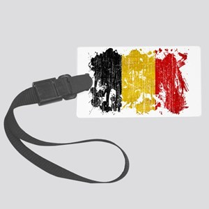 Belgium textured splatter aged c Large Luggage Tag