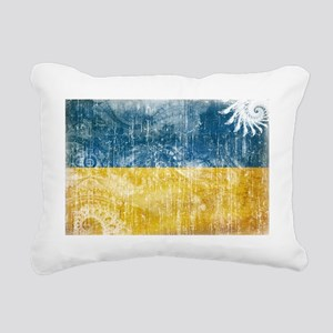 Ukraine textured Crazeh  Rectangular Canvas Pillow