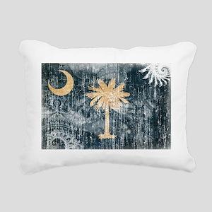South Carolina textured  Rectangular Canvas Pillow