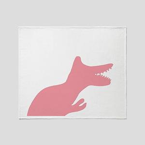 Pink Make Cancer Extinct Dinosaur De Throw Blanket