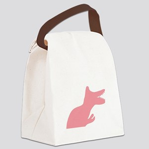 Pink Make Cancer Extinct Dinosaur Canvas Lunch Bag