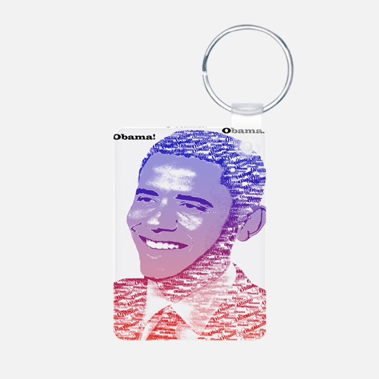 Obama5x7 Painted Name Red  Keychains