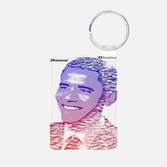 Obama Red White Blue Name Keychains