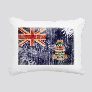 Cayman Islands textured  Rectangular Canvas Pillow