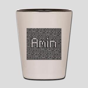 Amin, Binary Code Shot Glass