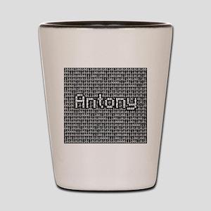 Antony, Binary Code Shot Glass