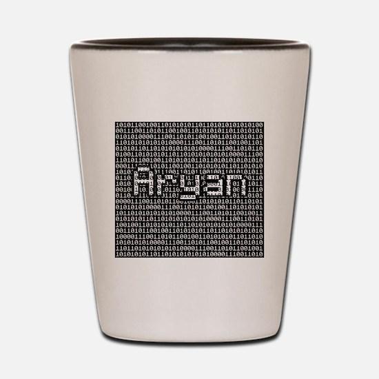 Aryan, Binary Code Shot Glass