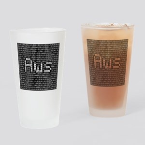 Aws, Binary Code Drinking Glass