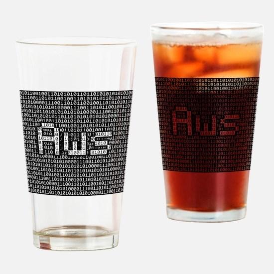 Aws, Binary Code Drinking Glass