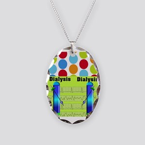 FF dialysis 1 Necklace Oval Charm