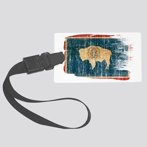 Wyomingtex3-paint style aged cop Large Luggage Tag