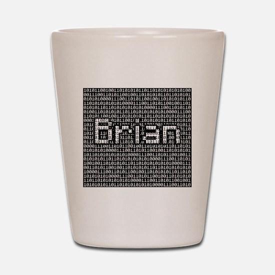 Brian, Binary Code Shot Glass