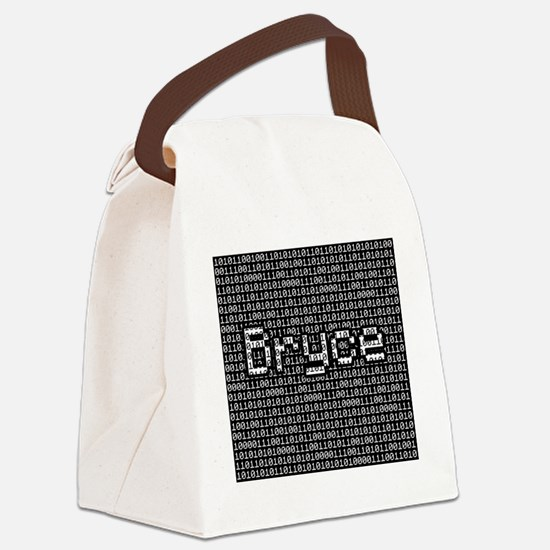 Bryce, Binary Code Canvas Lunch Bag