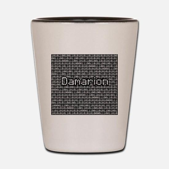 Damarion, Binary Code Shot Glass