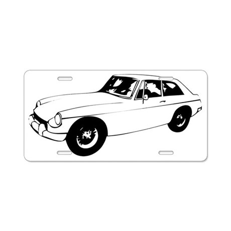 MGB GT Aluminum License Plate by Admin_CP19452582