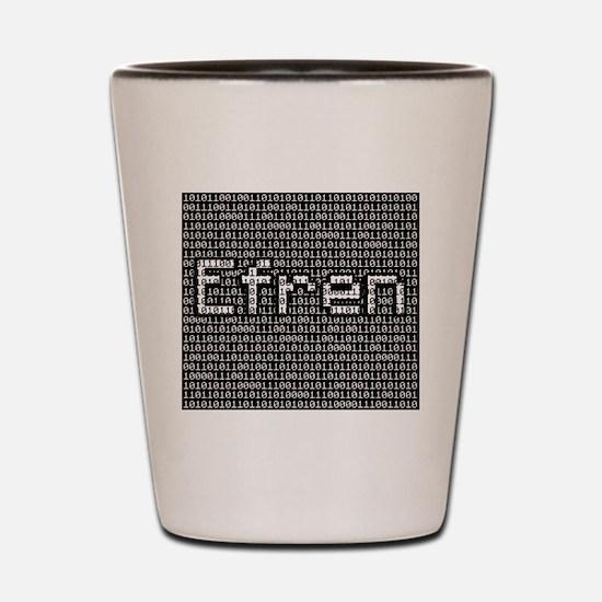Efren, Binary Code Shot Glass