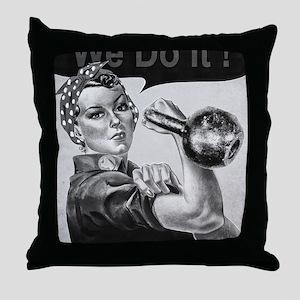 We Can Do It Kettlebells Throw Pillow