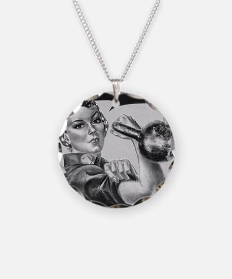 We Can Do It Kettlebells Necklace