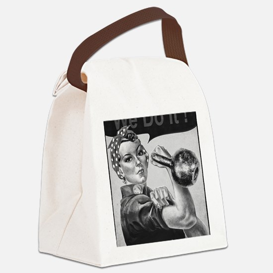 We Can Do It Kettlebells Canvas Lunch Bag