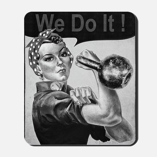 We Can Do It Kettlebells Mousepad