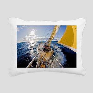 Sailing Rectangular Canvas Pillow