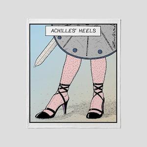 Achilles heels Throw Blanket