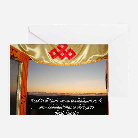 Yurt Sunset View ad Greeting Card