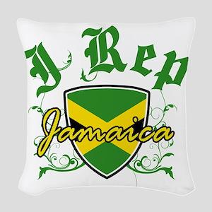 jamaica new Woven Throw Pillow
